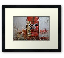 Knock Out - Strong Beer Framed Print