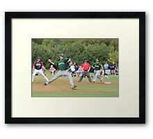 Young gun on the mound Framed Print