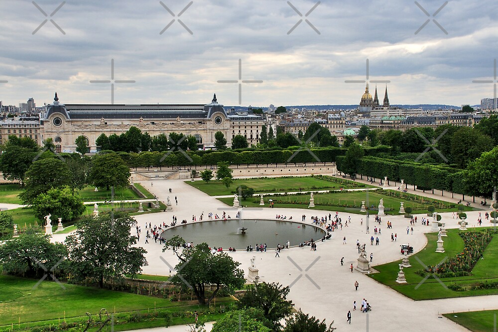 les tuileries paris by maluc redbubble