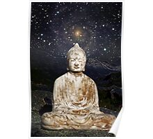 Buddha in the Mountains and amongst the Stars Poster