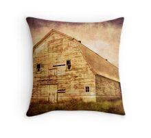 Old White Barn Throw Pillow