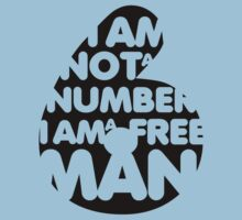 t-shirt, I am not a number, the prisonner (black) by KokoBlacksquare
