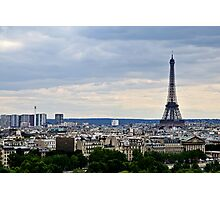 Paris and The Eiffel Tower 2 Photographic Print
