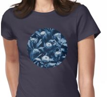 Evening Proteas - Denim Blue Womens Fitted T-Shirt