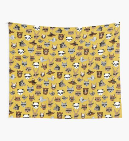 Bandit Animals by Andrea Lauren  Wall Tapestry