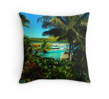 Relax in paradise Throw Pillow
