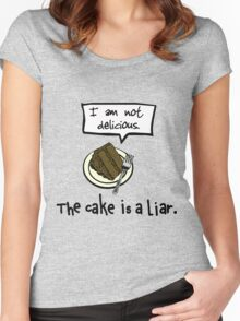 The Cake is a Liar. Women's Fitted Scoop T-Shirt