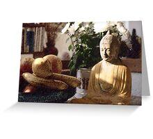 Buddha in the Kitchen - London - 6 Greeting Card