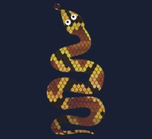 Snake Brown and Gold Print Kids Clothes