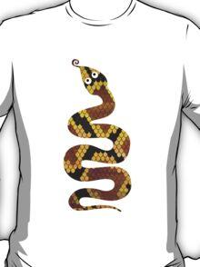 Snake Brown and Gold Print T-Shirt