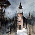 Winter Church @ www.KeithMcDowellArtist.com   by © Keith McDowell, Artist