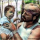 Father and Son @ www.KeithMcDowellArtist.com   by © Keith McDowell, Artist