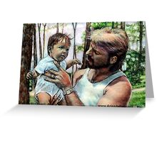 Father and Son @ www.KeithMcDowellArtist.com   Greeting Card