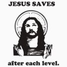 Jesus Saves after each level. by sender