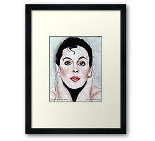Judy Garland @ www.KeithMcDowellArtist.com Framed Print