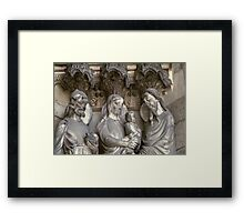 Laon Presentation of Jesus in temple on cathedral facade 19840507 0029 Framed Print