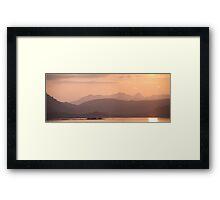 Pastel light Framed Print