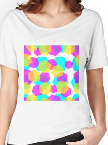 Diamonds color abstract background pattern.  Women's Relaxed Fit T-Shirt