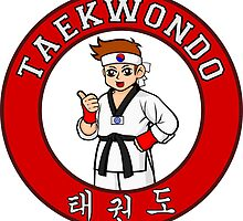 Taekwondo Mascot Badge by zaknafien