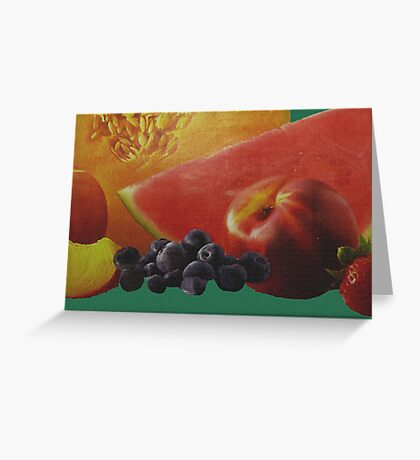 Fresh Fruit On Linen Greeting Card