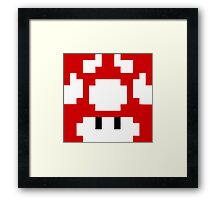 1UP Red - Super Mario Bros  Framed Print