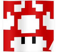 1UP Red - Super Mario Bros  Poster