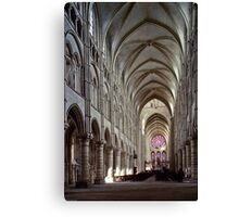 1984 Laon Nave and Rose window Canvas Print