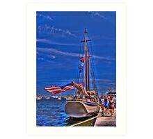 Sail Boston - American Eagle   Art Print