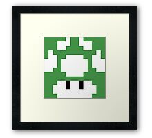 1UP Green - Super Mario Bros Framed Print
