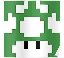 1UP Green - Super Mario Bros Poster