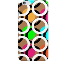 Ring and color abstract background pattern.  iPhone Case/Skin