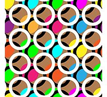 Ring and color abstract background pattern.  Photographic Print