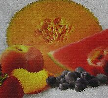 Fruit !! Oh It Looks Like A Rug by Linda Miller Gesualdo