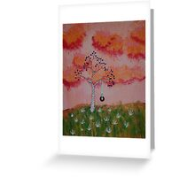 Tire Swing in the Sunset Greeting Card