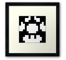 1UP Black - Super Mario Bros Framed Print