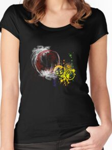 Rainbow fractal Women's Fitted Scoop T-Shirt