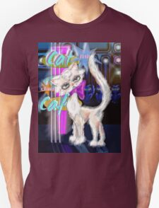 Hollywhiskers Hits Vegas: digital illustration by Alma Lee Unisex T-Shirt