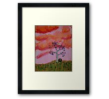 Nest at Sunset Framed Print