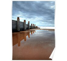 Blyth Beach in Northumberland Poster