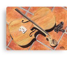 The Broken Violin Canvas Print