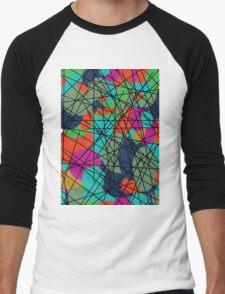 Colourful Men's Baseball ¾ T-Shirt