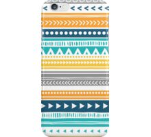 Orange Yellow Blue Tribal Pattern iPhone Case/Skin
