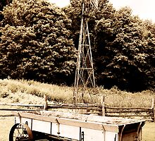 Windmill & Wagon Sepia by Hunniebee