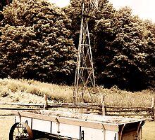Windmill & Wagon Sepia by Hunniebee