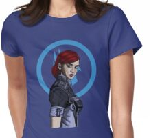 Commander Shepard Womens Fitted T-Shirt