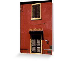 Red House, Yellow Frames Greeting Card