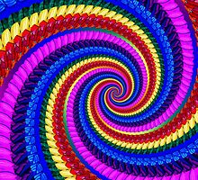 Psychedelic Fractal Spiral by Pixie Copley LRPS