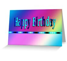 Happy Birthday Rainbow Greeting Card