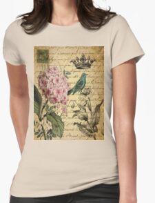 vintage paris hydrangea floral botanical art T-Shirt