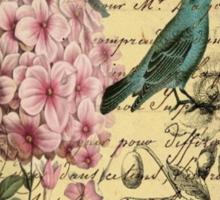 vintage paris hydrangea floral botanical art Sticker